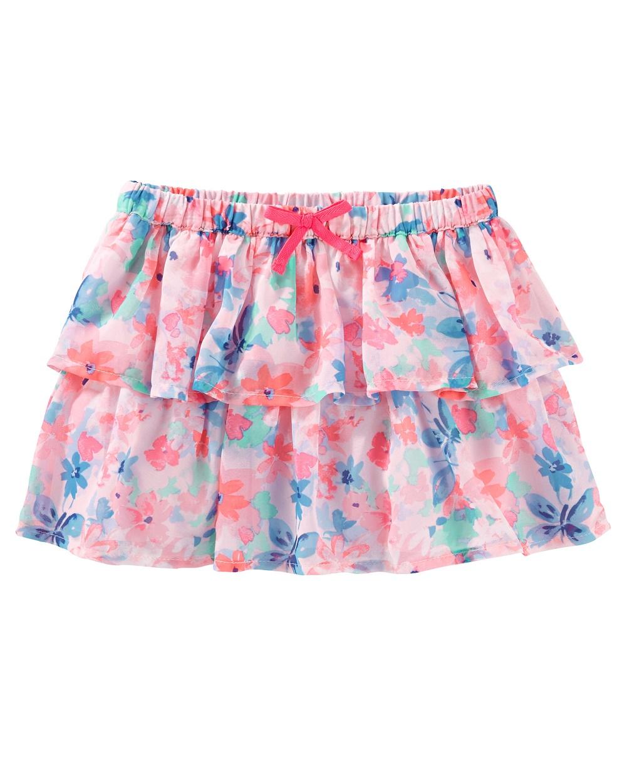 OshKosh B'gosh Baby Girls' 2 Tiered Floral Print Skirt, 12 Months
