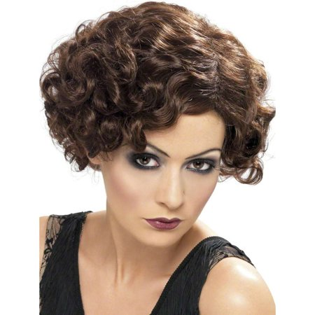 20s Flapper Brown Finger Wave Wig - Flapper Wig