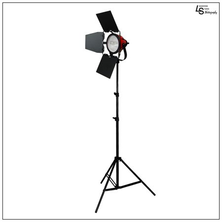 800W High Output Tungsten Halogen Hot Continuous Barndoor Light with Lighting Stand for Film Video Movie by Loadstone Studio WMLS0030