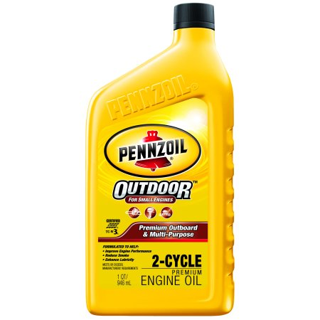 (3 Pack) Pennzoil Premium OB/MP 2 Cycle Motor Oil, 1 qt