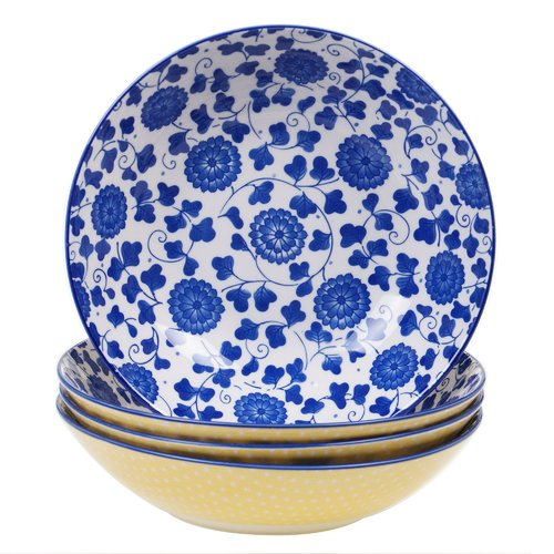 Latitude Run Hannan Poppy Pasta Bowl (Set of 4) by