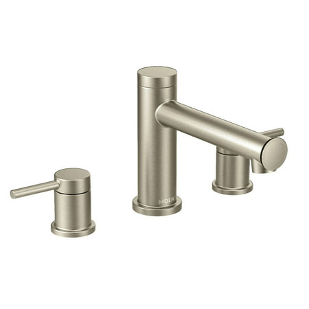 Align Brushed Nickel Two Handle Roman Tub Faucet