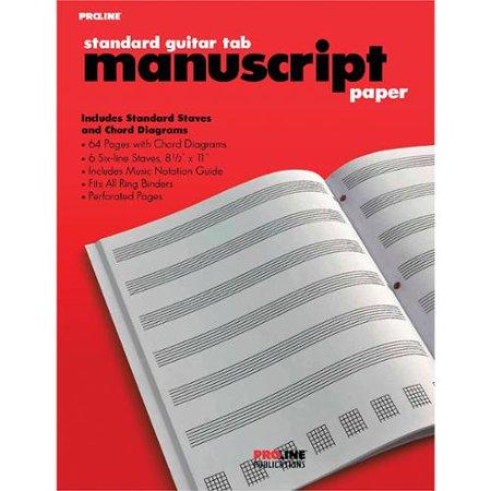 - Proline Proline Standard Guitar Tablature Manuscript Paper Pad