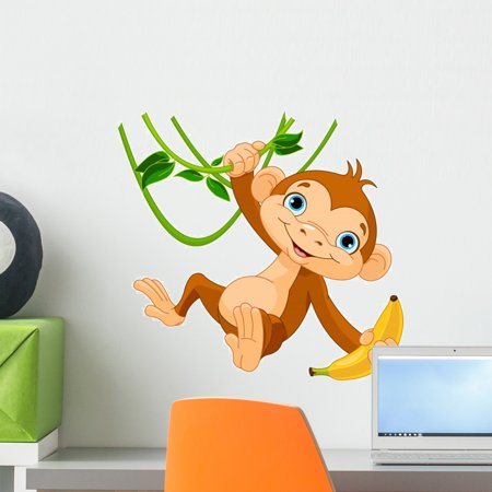 Nhl Wall Graphic (Baby Monkey Tree Wall Decal Wallmonkeys Peel and Stick Graphic (18 in W x 17 in H) WM271386)