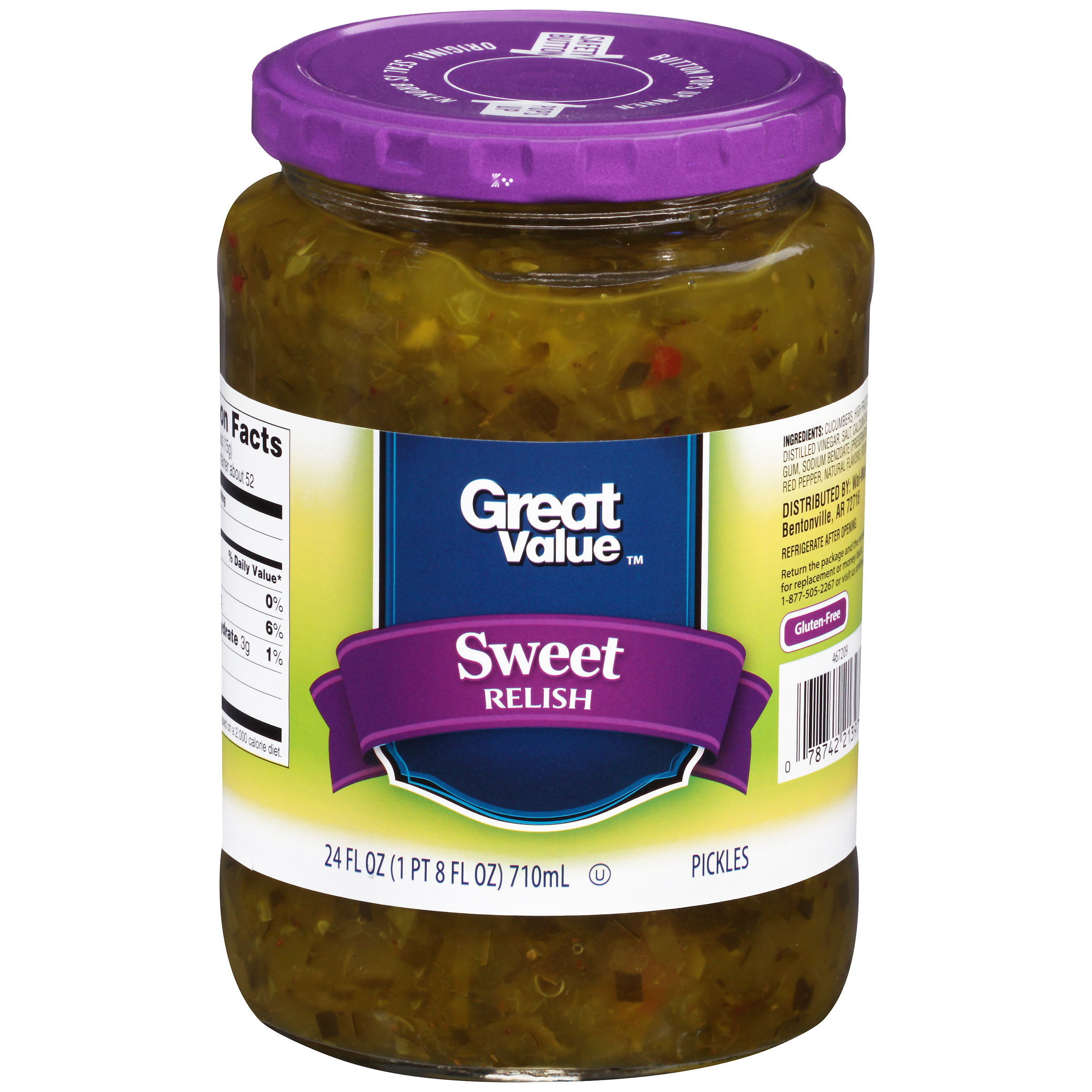 Great Value��� Sweet Relish 24 fl. oz. Jar