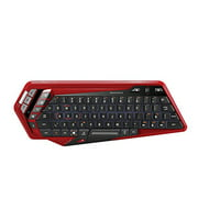 Mad Catz S.t.r.i.k.e. M Keyboard - Wireless - Bluetooth - Red, Blacktouchpad - Smart Tv, Smartphone, Tablet, Gaming Console, Computer - Play, Pause, Next Track, Previous Track, (mcb43114n013-04-1)