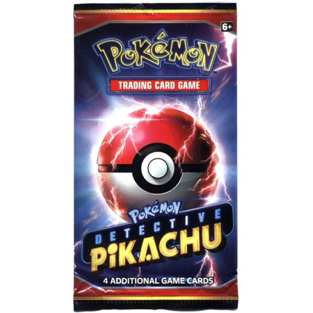 Pokemon Detective Pikachu Promo Booster Pack [4 Cards + Code] ()