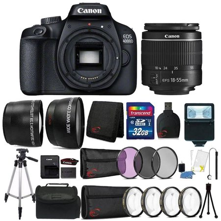 Canon EOS 4000D 18MP Wi-Fi / NFC DSLR Camera + 18-55mm Lens + 32GB Ultimate Accessory