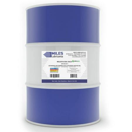 Milesyn sxr 5w20 api gf 5 sn full synthetic motor oil 55 for 55 gallon drum motor oil