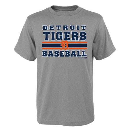 Detroit Tigers Baseball Park (MLB Detroit TIGERS TEE Short Sleeve Boys OPP 90% Cotton 10% Polyester Gray Team Tee 4-18)