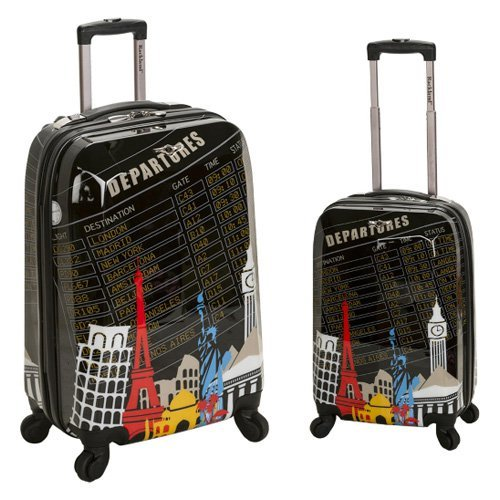 Rockland 2 Piece Polycarbonate/ABS Upright Luggage Set - Departure