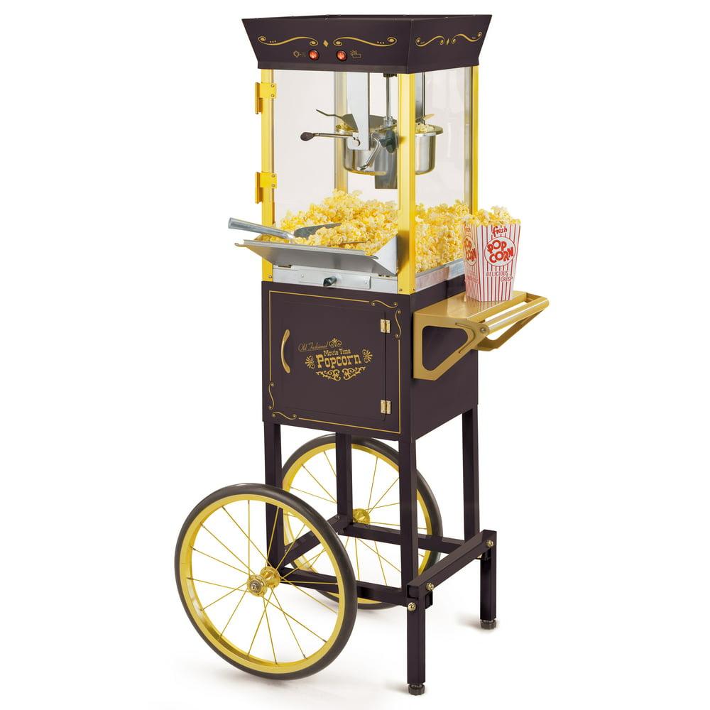 Nostalgia CCP510BK 53-In. Vintage 8-Oz. Commercial Popcorn Cart