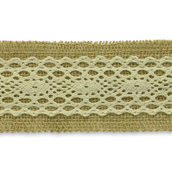 Expo Int'l 10 Yards of Annalie Jute Lace Trim by the yard
