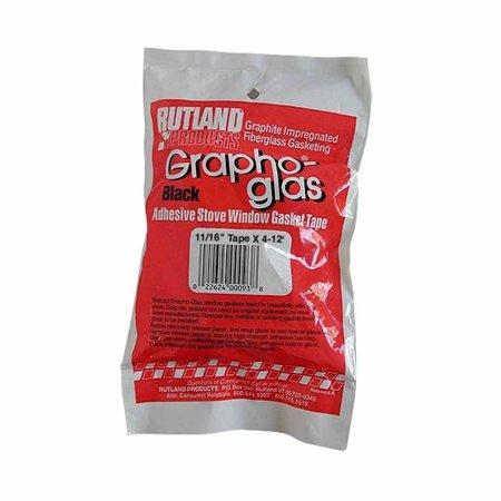 Rutland 93 Grapho-Glas Bagged Window Gasket, 11/16 by 54-Inch