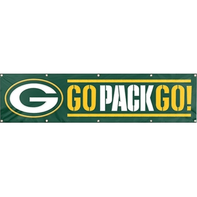 NFL 8 Foot  Banner, Green Bay Packers