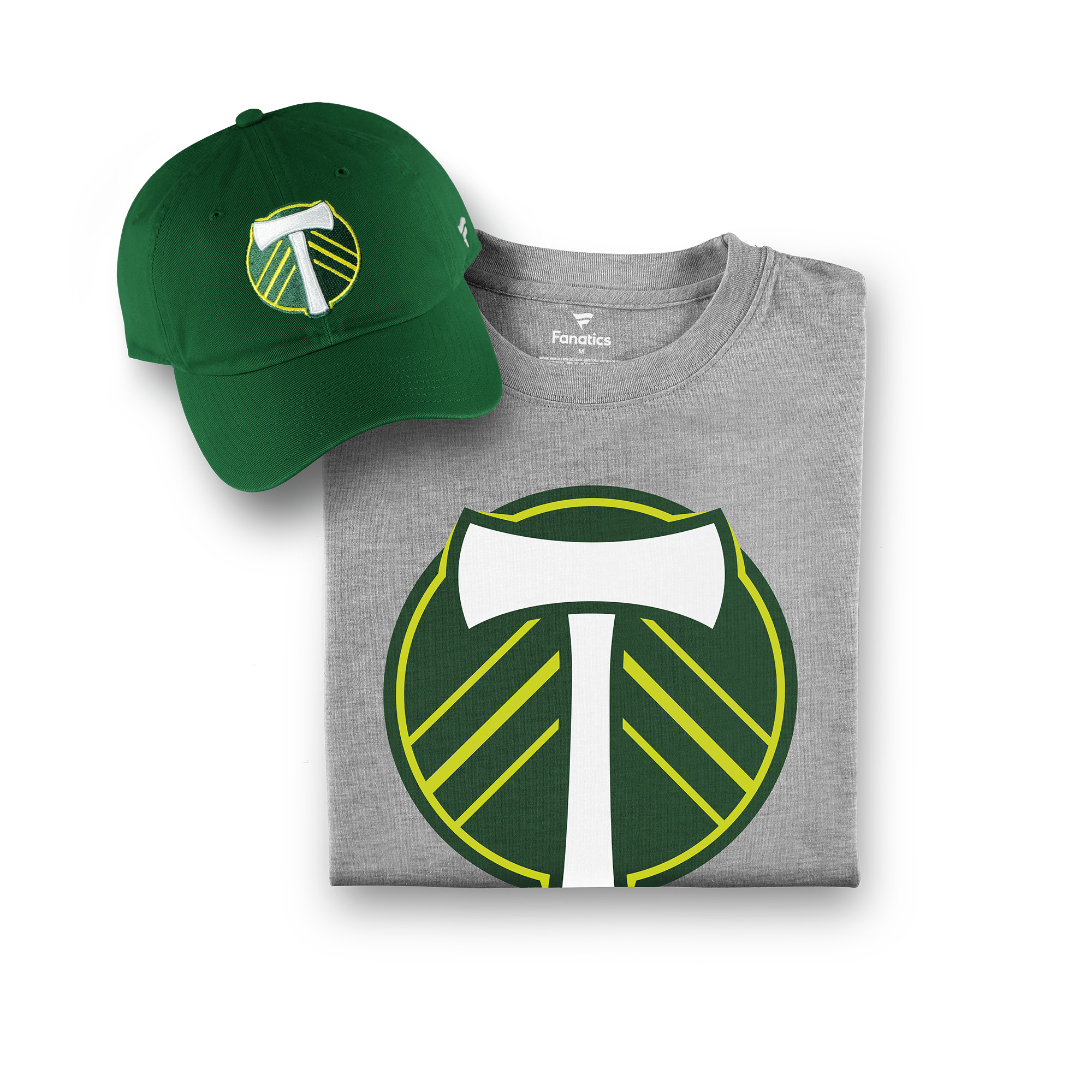 Portland Timbers Fanatics Branded T-Shirt & Adjustable Hat Combo Set - Forest Green/Gray