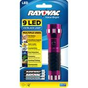 Rayovac Value Bright 9 LED UV Flashlight Battery Powered