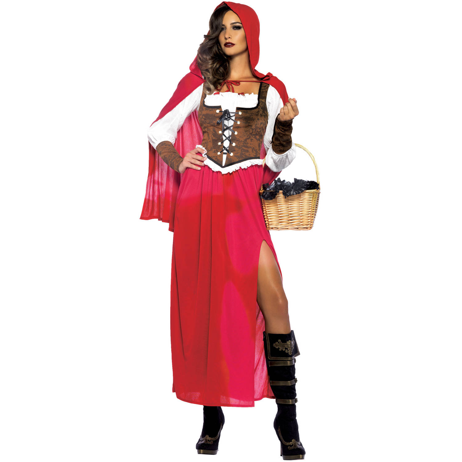 Leg Avenue Women\u002639;s PlusSize Woodland Red Riding Hood Costume, Red, 3X  Walmart.com