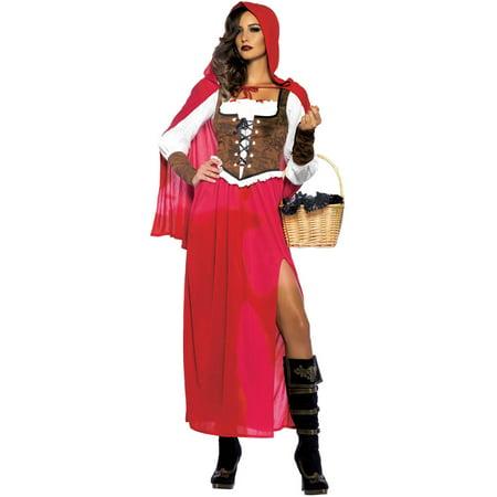 Leg Avenue Women\u002639;s PlusSize Woodland Red Riding Hood Costume, Red, 3X  Walmart.com