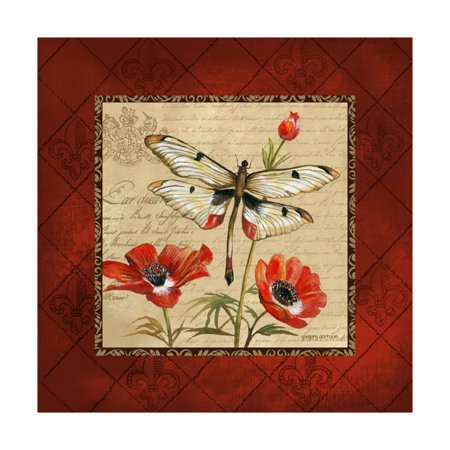 Dragonfly & Poppies Print Wall Art By Gregory Gorham ()