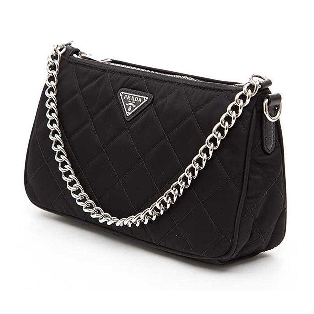 ... denmark prada tessuto impuntu quilted nylon chain handle shoulder bag  bt1026 black nero c5528 fd528 bdae363f238e3