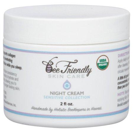 USDA Certified Organic Crème de nuit par BeeFriendly Collection Sensible anti-rides anti-âge profonde Hydratante Hydratante no