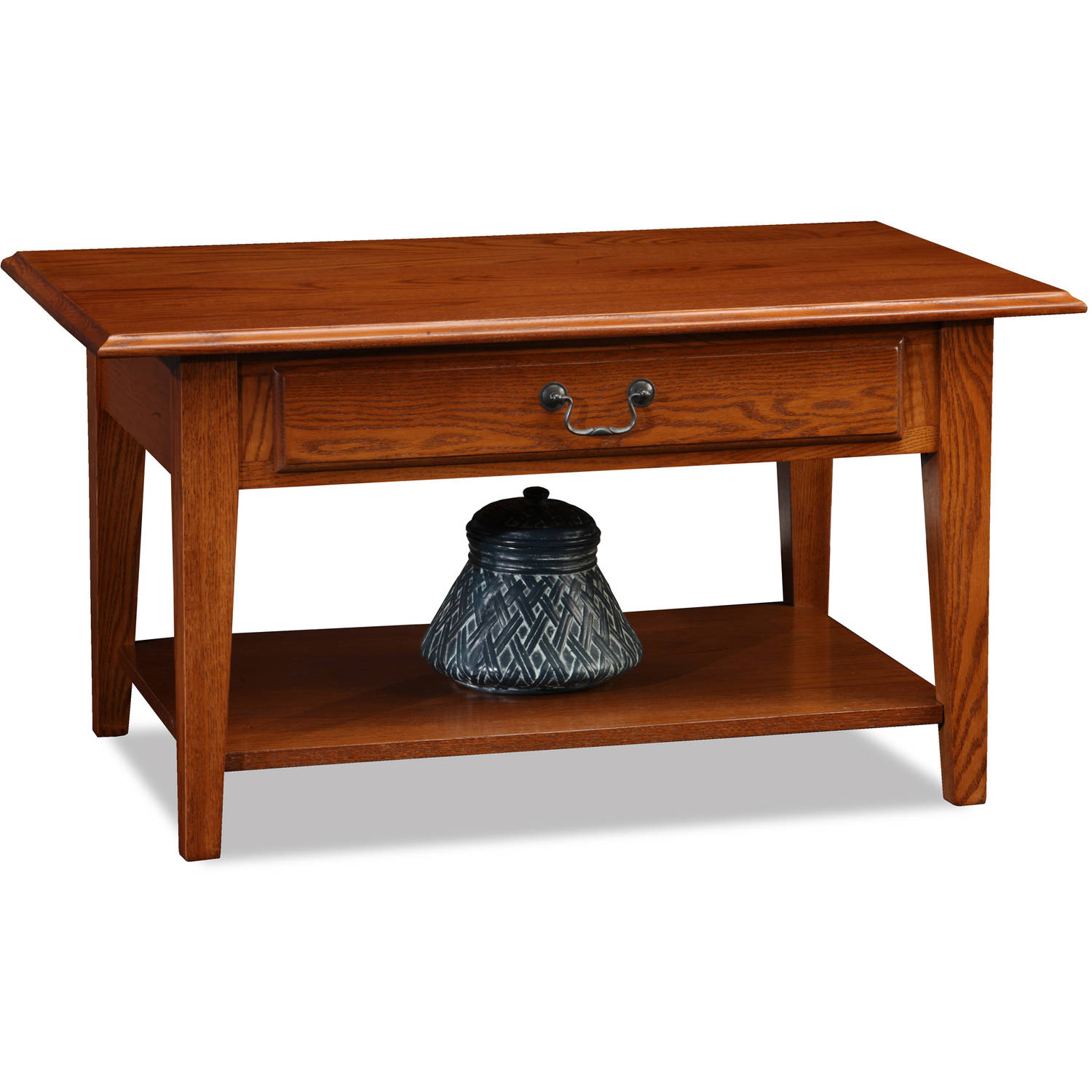 Leick Home Shaker Style Wood Drawer Coffee Table, Multiple Colors