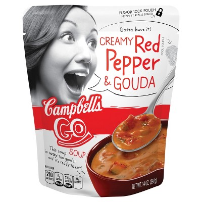 Campbell's Go Creamy Red Pepper & Gouda Soup 14 oz by