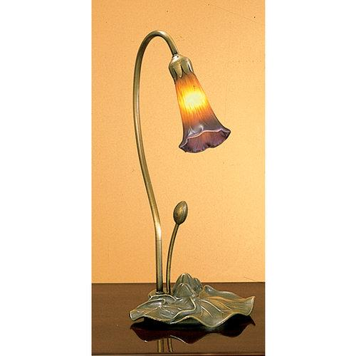 Meyda Tiffany  12460  Table Lamps  Lilies  Lamps  Accent Lamps  ;Amber/Purple