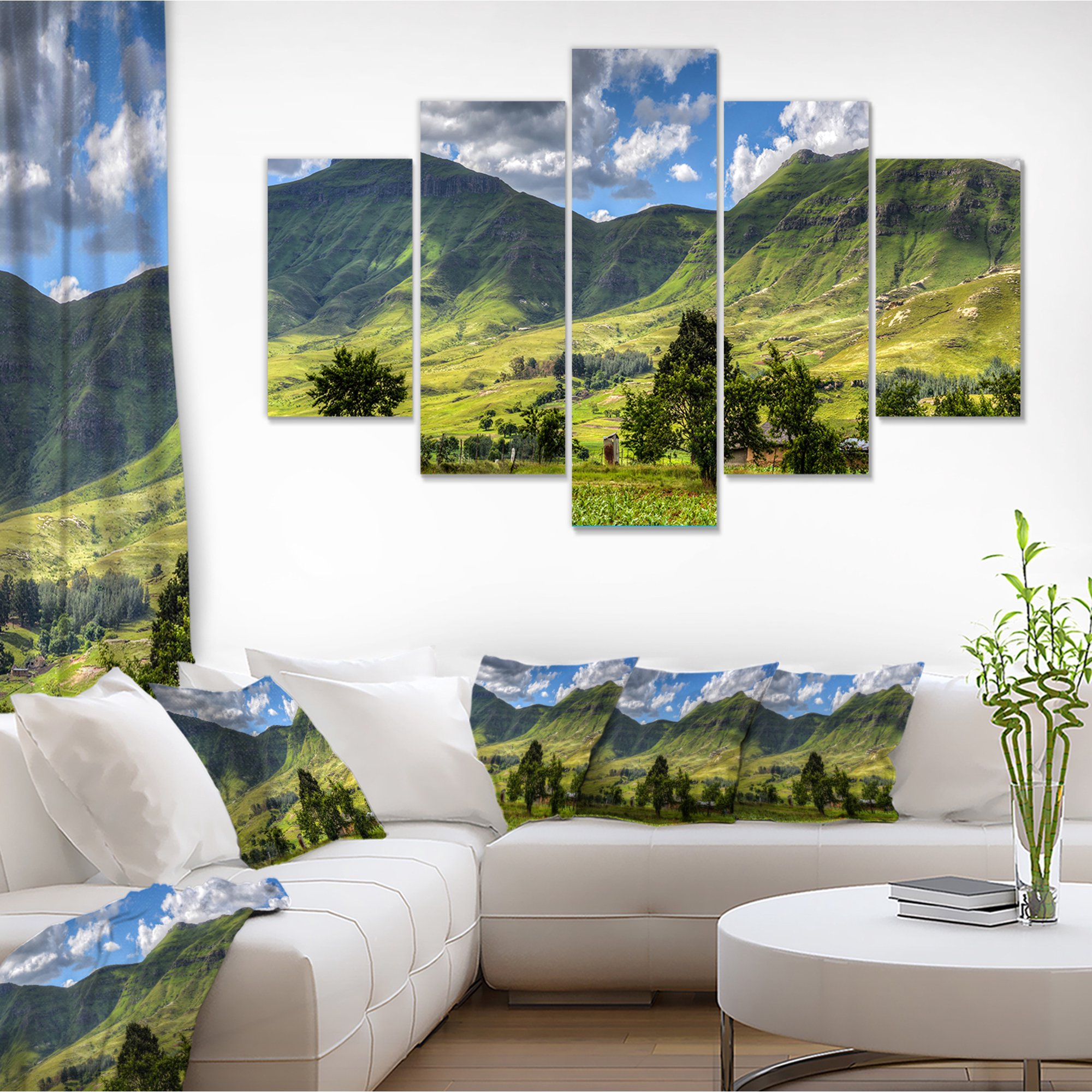 Lesotho Mountains Panorama Landscape Canvas Art Print Walmart Canada