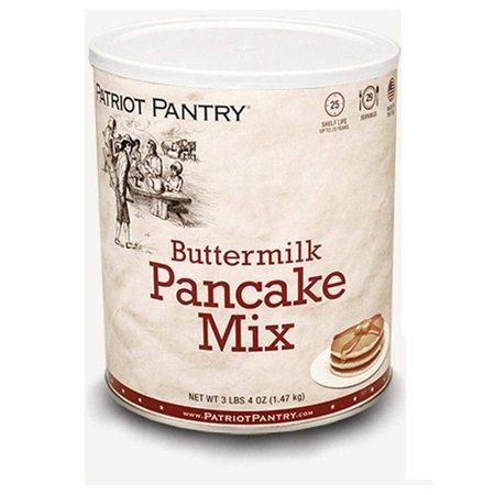 Patriot Pantry Buttermilk Pancake Mix (21 servings) #10 Can Bulk Emergency Storage Food Supply, Up to 25-Year Shelf Life (Mixels Vulk)