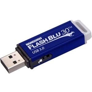 Kanguru FlashBlu30 with Physical Write Protect Switch SuperSpeed USB3.0 Flash Drive - 32 GB - Write Protection Switch,