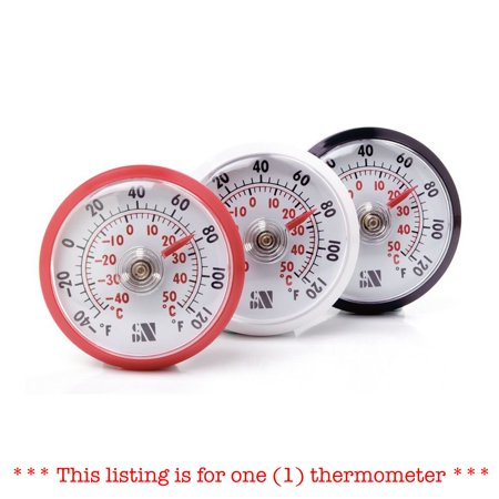 CDN Stick-Up Air Thermometer for Fridge/Freezer Shatterproof ONE Assorted Color