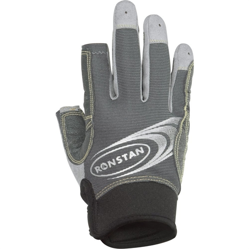Ronstan Sticky Race Gloves with 3 Full and 2 Cut Fingers - Gray - Medium RF4881M