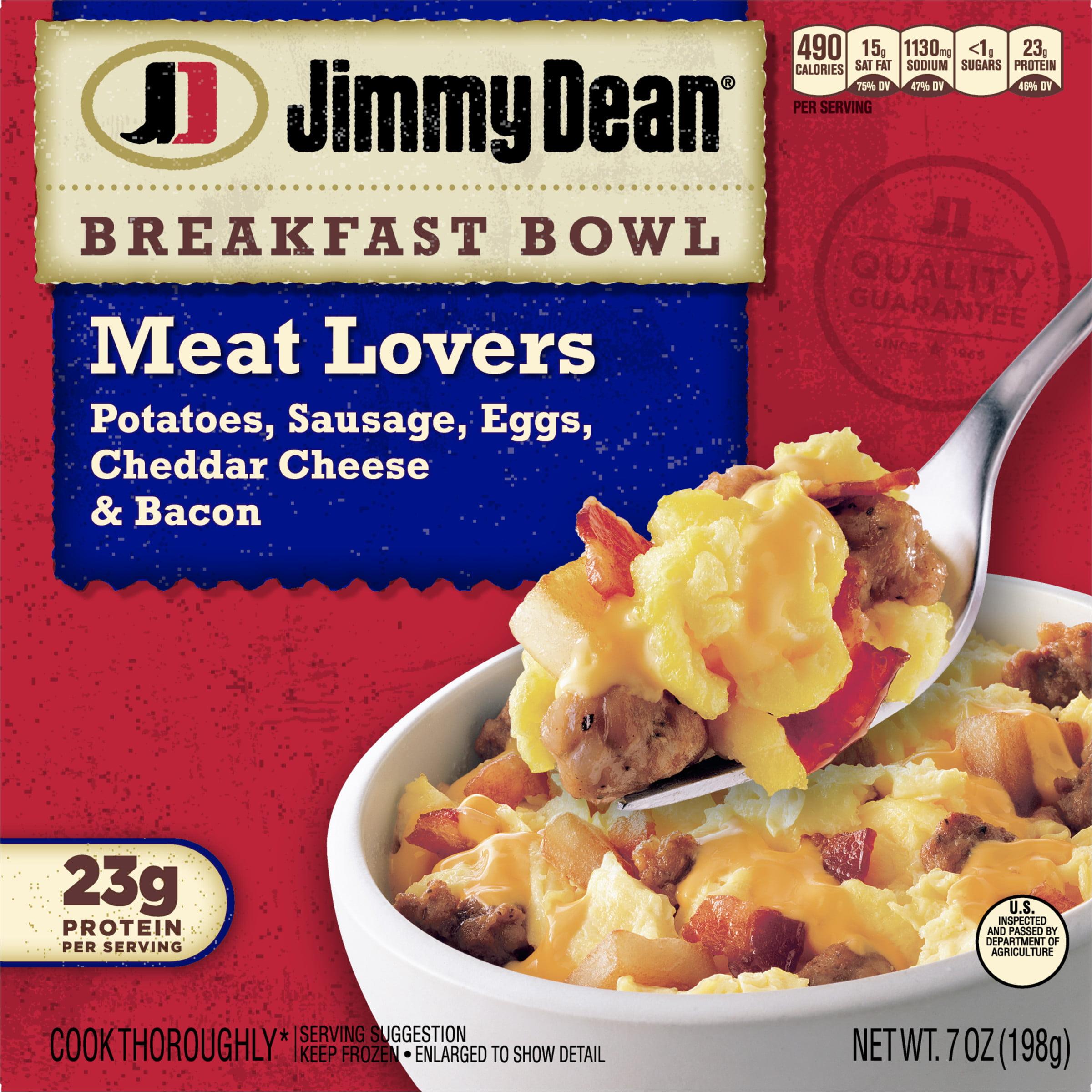Jimmy Dean Meat Lovers Breakfast Bowl 7 Oz Walmart Com Walmart Com