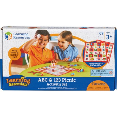 Learning Resources, LRN7730, ABC 123 Picnic Board Activity Set, 1 Set (Learn 123)