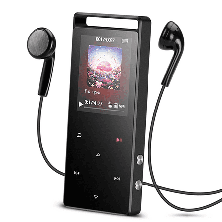 AGPTEK A01S 16GB MP3 Player Touch Screen with FM /Radio, Lossless Sound Metal Music Player,up to 128GB for Sport, Grey