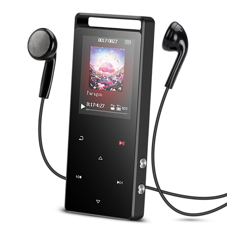 AGPTEK A01S 16GB MP3 Player Touch Screen with FM /Radio, Lossless Sound Metal Music Player,up to 128GB for Sport, Grey - A Rockin Halloween Mp3