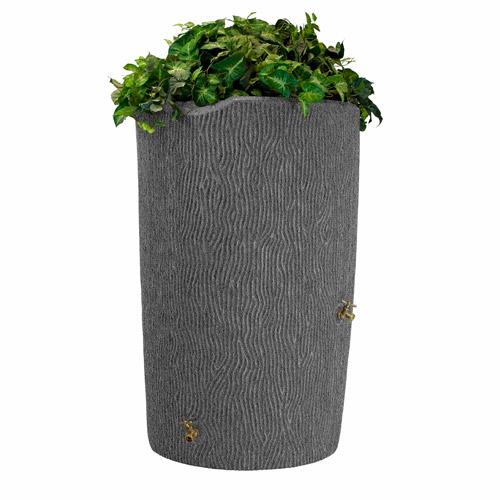 Impressions 90-Gallon Bark Rain Saver, Light Granite