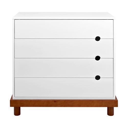 Baby Mod - Olivia 4-Drawer Dresser, Amber and White