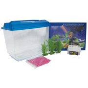 Penn Plax 1 Gallon Goldfish and Betta Aquarium Kit