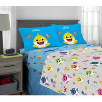 Baby Shark Sheet Set, Kids Bedding, Shark Family