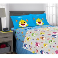 Baby Shark Sheet Set, Kids Bedding, Shark Family