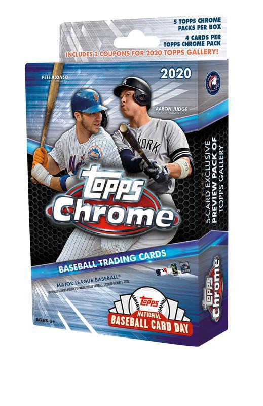 2020 Topps Chrome Mlb Baseball Trading Cards Hanger Box National Baseball Card Day Exclusive 20 Cards 1 Bonus Pack Featuring National Baseball Card Day 2020 Topps Updates Release Walmart Com Walmart Com