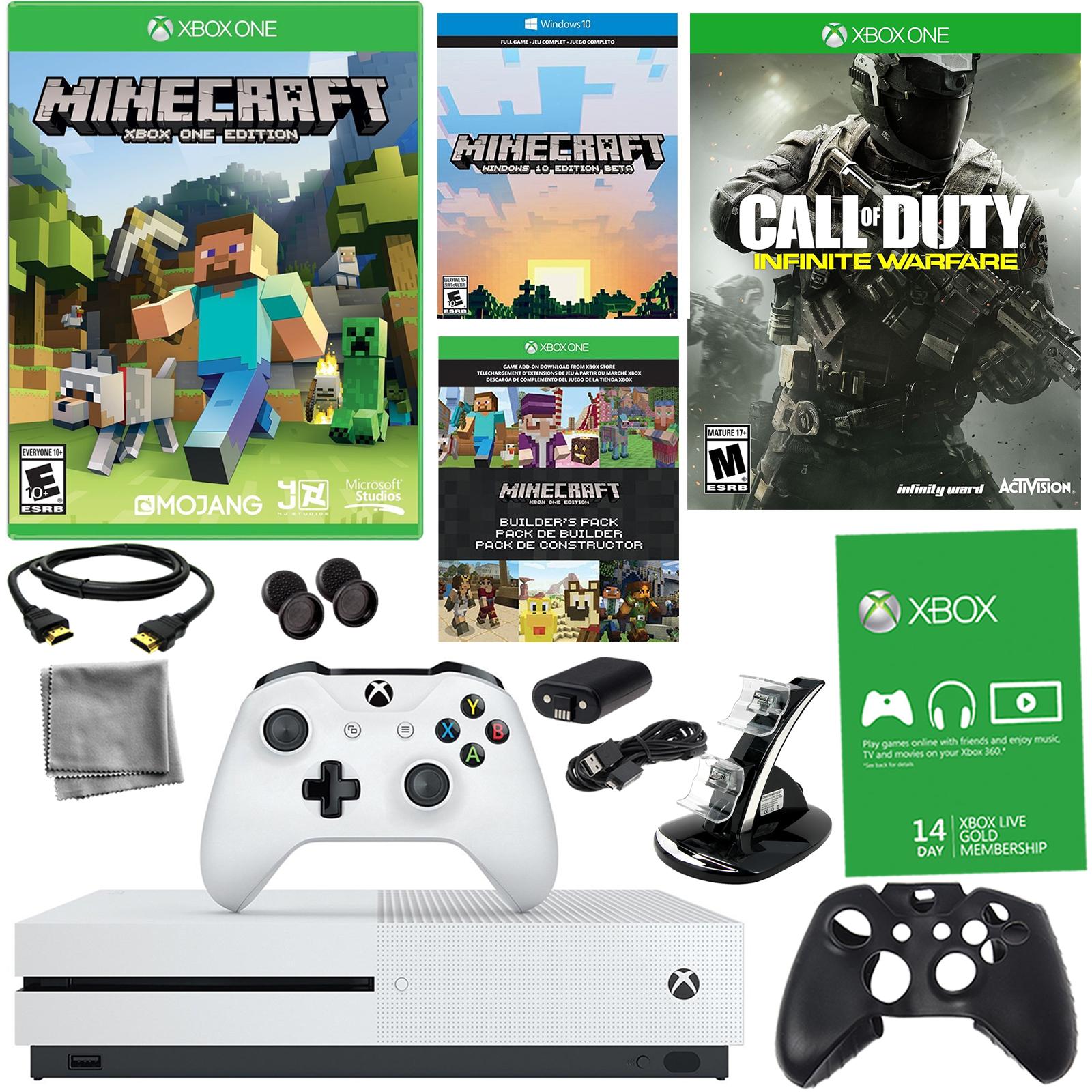 Xbox One S 500GB Minecraft Bundle With Infinite Warfare  8 in 1 Kit En VeoyCompro