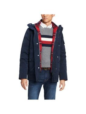 Tommy Hilfiger Mens Hooded Plaid Jacket