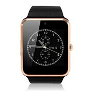Amazingforless CV90 Premium Gold Bluetooth Smart Wrist Watch Phone mate for Android Samsung HTC LG Touch Screen with Camera
