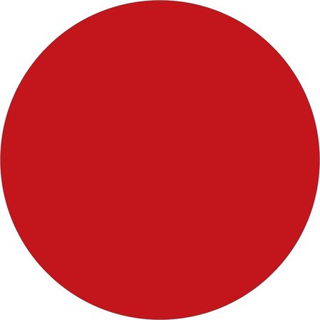 Shoplet select Red  Inventory Circle Labels SHPDL610A
