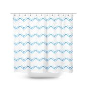 Best Home Fashion, Inc. Dotted Chevron Single Shower Curtain