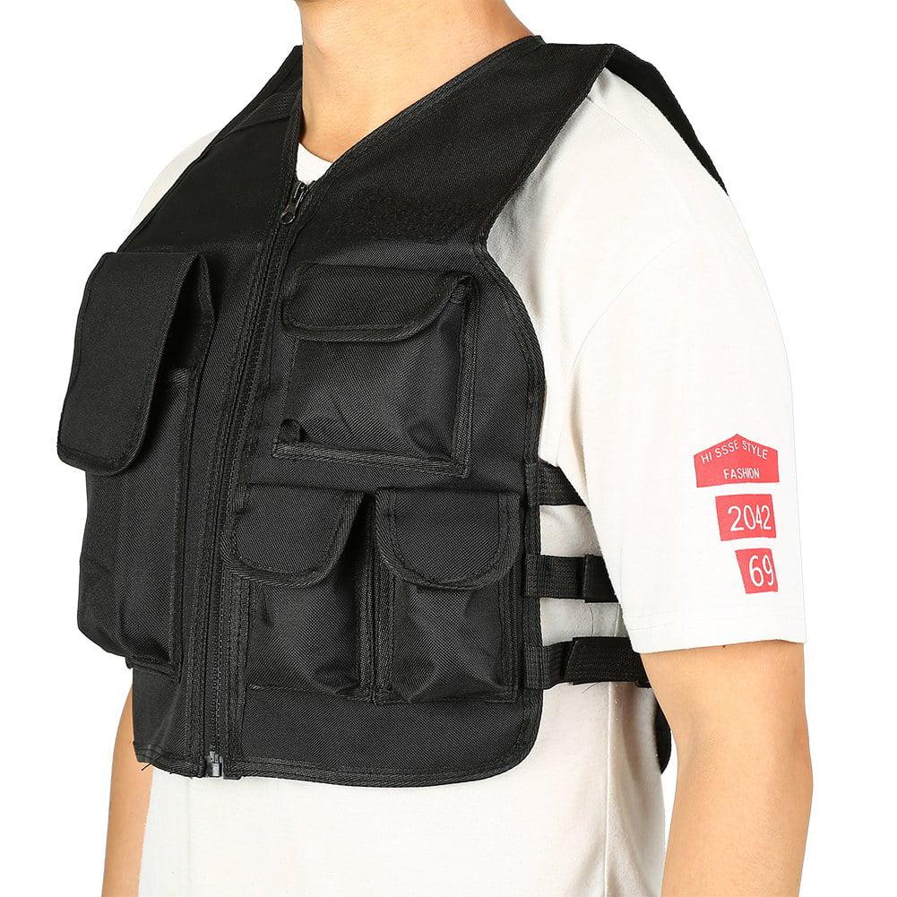 WALFRONT Nylon CS Game Airsoft Molle Plate Carrier Body Armor Vest For Children , armor vest, molle vest